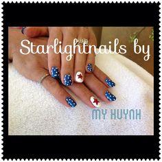Cute nails July 4th