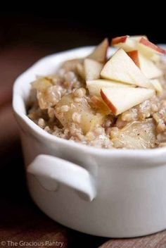 Apple Pie Oatmeal   17 Heart-Healthy Recipes That Actually Taste Great