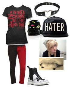 """"""""""" by maddhatterx ❤ liked on Polyvore featuring Dr. Martens, Lowlife and Tripp"""