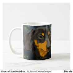 Black and Rust Dachshund Dog