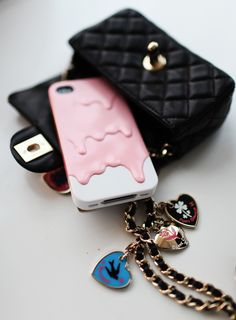 Pink melt iphone case