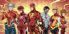 Flash Family NEW by phil-cho on DeviantArt Flash Comics, Arte Dc Comics, Wally West, Marvel Dc, Superhero Family, Bat Family, Superhero Design, Son Of Batman, Kid Flash
