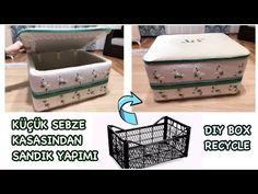 Vegetable Crates, Plastic Crates, Dollar Tree Decor, Wedding Gift Boxes, How To Make Box, Baby Necessities, Diy Box, Diy And Crafts, Recycling