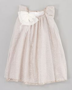 Silver-Printed Tulle Dress, Sizes 6-10 by Chloe at Neiman Marcus.