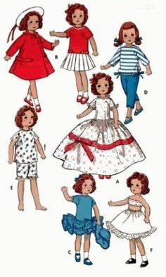 VINTAGE-BETSY-McCALL-8-DOLL-PATTERN-8799