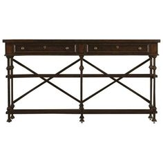 Stanley Furniture European Farmhouse Huntboard ($1,101) ❤ liked on Polyvore featuring home, furniture, storage & shelves, sideboards, terrain, stackable shelving, european furniture, country furniture, white shelf and drawer shelf