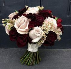 My favourite winter colour combination - deep velvety burgundy with pale vintage.- My favourite winter colour combination – deep velvety burgundy with pale vintage pinks. Finally embracing winter for Stuart and Lezlie's wedding today Vintage Wedding Flowers, Prom Flowers, Floral Wedding, Fall Wedding, Wedding Colors, Wedding Lavender, Trendy Wedding, Wedding Ideas, Burgundy Wedding Flowers