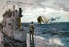 Hundimiento de un mercante por un submarino alemán en la Primera Guerra Mundial
