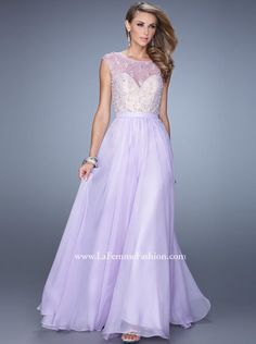 705c97e164b 2015 A-line Ilusion Top Lilac Long Prom Dress  Formal Dress  Evening dress