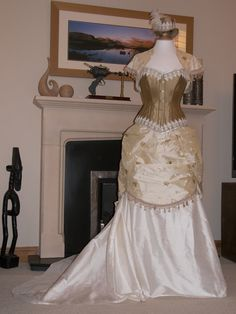 Fairytale Wedding Outfit Skirt bustle corset by OohLaLaBoudoir, $999.00