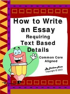 Text Evidence Writing:  This comprehensive Common Core aligned writing unit includes everything you need to teach your students how to write an expository essay requiring text based details!