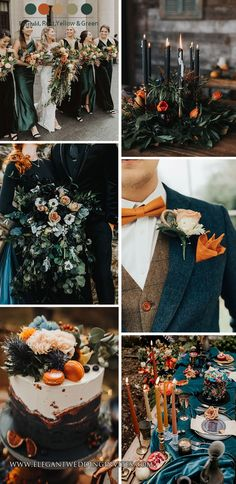 emerald and rust orange moody dark boho wedding theme Orange Wedding Themes, Spring Wedding Colors, Fall Wedding Bridesmaids, Boho Wedding, Wedding Shoot, Rustic Wedding, Wedding Dresses, Wedding Stuff, Wedding Ideas