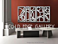 "Metal Wall Art, Art, Decor, Abstract, contemporary, Modern, ""Portofino 5"" - Aluminum Sculpture on Etsy, $962.00"