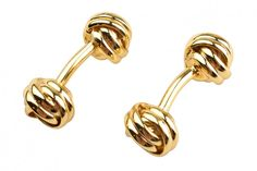 Gold Knot Cufflinks from Kent Wang