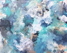 Ocean inspired abstract from my Etsy shop https://www.etsy.com/listing/489268165/ocean-inspired-abstract-painting