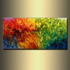 ORIGINAL Modern Abstract Painting by newwaveartgallery on Etsy, $550.00