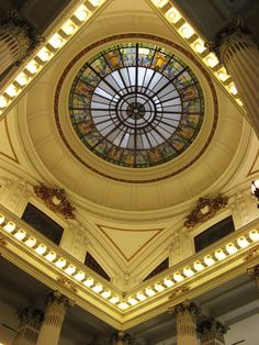 National Taiwan Museum's stained glass ceiling