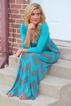 Trust Me On This Maxi Dress - Teal from Closet Candy Boutique