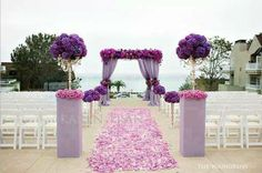 I think I want pedestals to put flowers at entrance of aisle this pretty just different color
