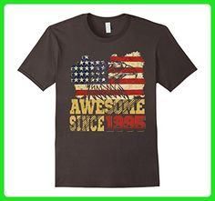 Mens Awesome Since 1995 American Flag 22nd Birthday 22 Years Old Small Asphalt - Birthday shirts (*Amazon Partner-Link)