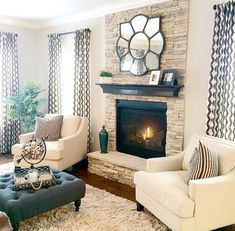 Cozy Living Rooms with Fireplace