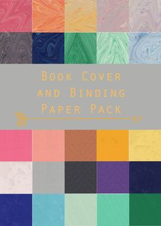 Book Cover and Binding Digital Paper Pack by EverydayFiction, $3.00