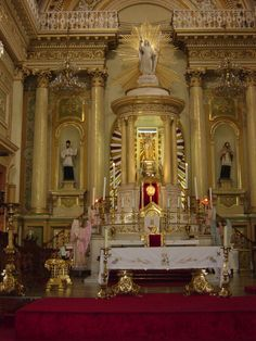 Guanajuato Mexico Church altar