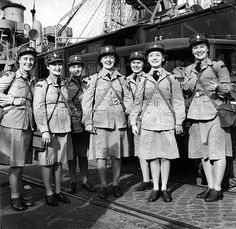 Canadian Women's Army Corps Unit arriving in Italy, c. 1944.