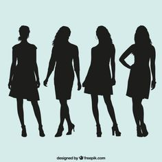 Black girl silhouettes Vector | Free Download
