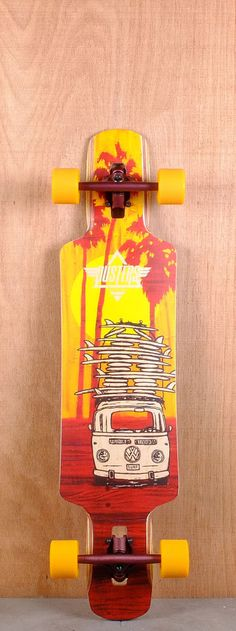"""How to travel the world Dusters Prebuilt 38"""" Quiver Longboard Complete"""