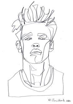 """Gaze 496″, continuous line drawing by Boris Schmitz"