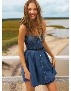 Sukienka gorsetowa jeansowa VICTORIA SECRET M 38
