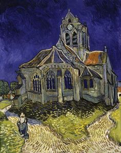 'The Church in Auvers-sur-Oise' by Vincent van Gogh (1890)