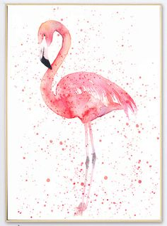 Summer Tropical Animal Red Pink Flamingo Wall Decoration Poster Picture Print Canvas Photo Art Home Decor for Livingroom MO53