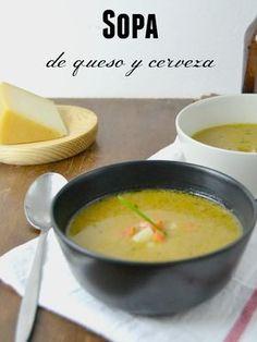 Apunta la receta de CUUKING!, una sopa de queso Idiazabal y cerveza para morirse de gusto. Healthy Recipes, Gourmet Recipes, Soup Recipes, Vegetarian Recipes, Cooking Recipes, Light Soups, Chowder Soup, Good Food, Yummy Food