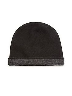 Saks Fifth Avenue Collection Reversible Cashmere Beanie -