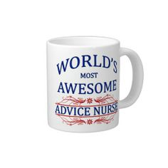 Gifts for nurses - World's Most Awesome Advice Nurse Jumbo Mugs Large Coffee Mugs, White Coffee Mugs, Medical Gifts, Nurse Gifts, Advice Nurse, Brother In Law Gift, Psych Nurse, Oncology Nursing, Birthday Coffee