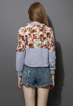 """I quite like this floral sweater! The front reads """"Rainbows Sweetly"""" <3"""