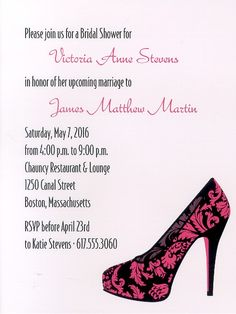 Divine Design Bridal Shower Invitation