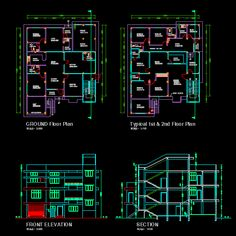 Working with AutoCAD is becoming a priority in working on everything from houses to multistory buildings. Architecture Portfolio, Architecture Plan, Sustainable Architecture, Architecture Diagrams, Autocad Free, Steel Trusses, Modern Exterior House Designs, Wall Exterior, Cad Blocks