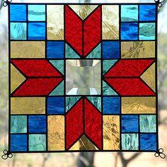 "New 9"" Stained Glass Quilt Pattern Panel Suncatcher 913 | eBay"
