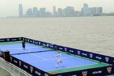 Tennis Court on a barrage. Photo credit to Jen Pottheiser.