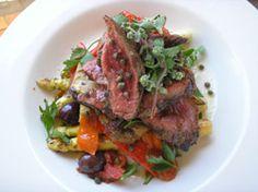 grilled kangaroo salad