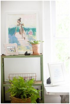 Shabby Chic White Farmhouse Inspired Thrift Store Home Office