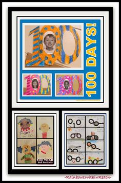 Celebrate 100 Days at School: Inspiration, Projects and Bulletin Boards at RainbowsWithinReach