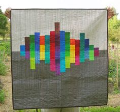 Kona challenge quilt by greenleaf goods. No prints allowed. This was the winner of the challenge.