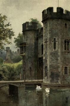 Beautiful England - a public domain book series with awesome illustrations and descriptions of England's architectural structures.