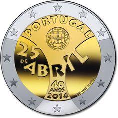 "Portugal bijzondere 2 Euromunten - Portugal 2 Euro 2014 ""Anjerrevolutie"""