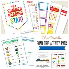 10 fun summer printables to keep them learning while on road trips or on summer break!