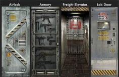 Awesome 'Metal Core' decals for doors, from Gadgets and Gear. My teenage self would have loved these!
